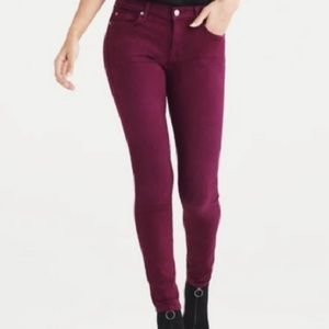 7 for All Mankind The Skinny Burgundy Jeans, 29